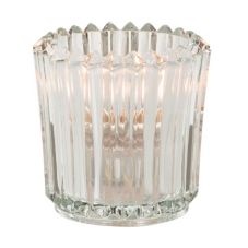Hollowick® 5228C Clear Glass Ribbed Tealight Lamp