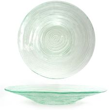 Turgla 04-316-35CLR Clear 58 Oz. Round Textured Spiral Glass Bowl