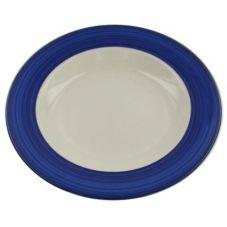 """Homer Laughlin 0205-1960 Brush Band Cobalt Blue 9"""" Plate - 24 / CS"""