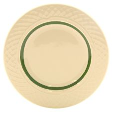 "Homer Laughlin China 0334-1487 Inverness Green 6-1/4"" Plate - 36 / CS"