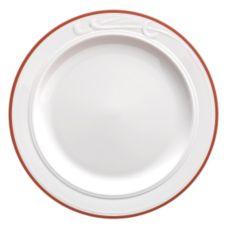 "Homer Laughlin 6071613 Lydia Maroon 9"" Plate - 24 / CS"