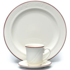 Homer Laughlin 6141613 Lydia Maroon Tall 7.25 oz Teacup - 36 / CS