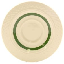 "Homer Laughlin China 0355-1487 Inverness Green 5-5/8"" Saucer - 36 / CS"