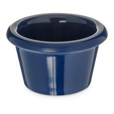 Carlisle S27560 1.5 Oz. Cobalt Blue Smooth Melamine Ramekin - Dozen