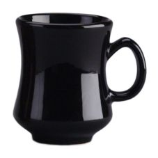 Diversified Ceramics DC100-BLK Black 8.5 Oz. Madrid Mug - 24 / CS
