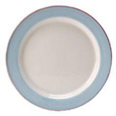 "Steelite 15310212 Simplicity Rio Blue 8"" Slimline Plate - 24 / CS"