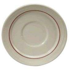 "Oneida F1040728500 Accent Burgundy 5-1/2"" Saucer - 36 / CS"