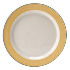 "Steelite 15300214 Simplicity Rio Yellow 6.25"" Slimline Plate - 36 / CS"