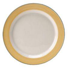 "Steelite 15300212 Simplicity Rio Yellow 8"" Slimline Plate - 24 / CS"
