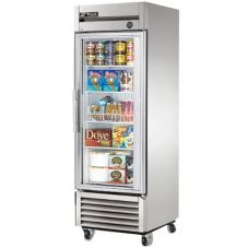 True® T-Series Reach-In Freezer w/ 1-Glass Swing Door, 23 Cubic Ft