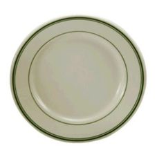 Oneida Buffalo Saratoga Green Rolled Edge Plate
