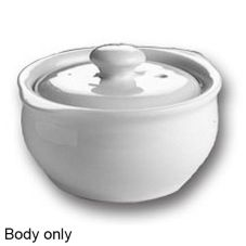 Hall China 479-WH BODY White 14 Oz. Onion Soup Crock w/o Lid - 12 / CS