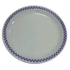 "Homer Laughlin China 2241790 Checkers Cobalt NR 9"" Plate - 24 / CS"