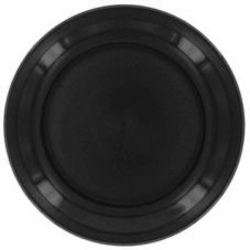 "Homer Laughlin 224101 Colorations™ Black 9"" Plate - 24 / CS"