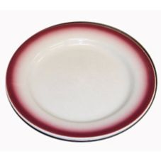 "Homer Laughlin 2047 Maroon Spray RE 8"" Plate - 36 / CS"