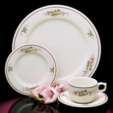 """Homer Laughlin 3661384 Seville French Violets 6-1/4"""" Plate - 36 / CS"""