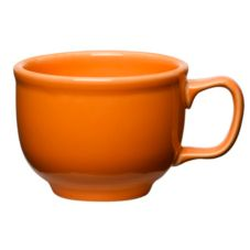 Homer Laughlin China 149325 Fiesta Tangerine 18 Oz. Jumbo Cup - Dozen