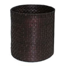 "FOH® RWA006ESK10 Chocolate Brown Rattan 9"" Riser - 2 / CS"
