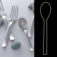 "Steelite 5308S062 Tura S/S 10-1/4"" Serving Spoon - Dozen"