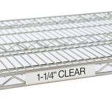 Metro® 9990CL4 Super Erecta® 43 x 1-1/4 Clear Label Holder