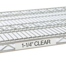 Super Erecta Plastic Shelf Label Holder f/ 48 Shelves, Clear, 43x1-1/4