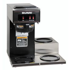 BUNN® 13300.0013 Black Pourover Coffee Maker with 3 Lower Warmers