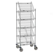 "Metro® 24""L x 60""H Dispensing Rack w/ 5 Slanted Shelves"
