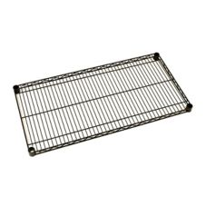 "Metro® 1424NBL Super Erecta Black 14"" x 24"" Wire Shelf"