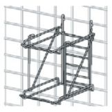 Metro® CR4LPBR Smartwall G3™ Low Profile 4-Can Rack