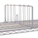 "Metro® DD12C Erecta Shelf® 8 x 12"" Chrome Shelf Divider"