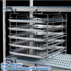 "MetroMax Tray Slide Rack for 18"" W Shelves, Gray Epoxy"