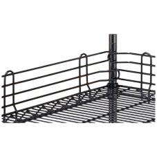 "Metro® L24N-4BL Super Erecta® 4 x 24"" Black Shelf Ledge"