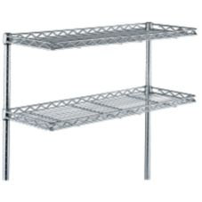 Wire Cantilever Shelf, Chrome, 12 x 30