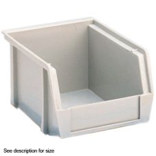 "Metro SB91587NAT Polypropylene 14-3/4 x 8-1/4 x 7"" Gray Stacking Bin"