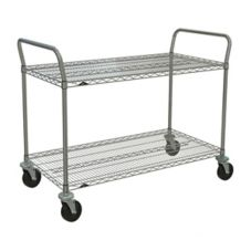 "Metro® 2SPN33ABR 18 x 36"" Cart With 2-Super Erecta® Shelves"