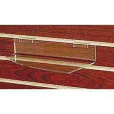 Clear Solutions 8002SW Clear Left Corner Slatwall Shelf