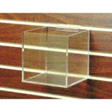 "Clear Solutions 8711SW 6"" Clear Slatwall Cube with 1 Divider"