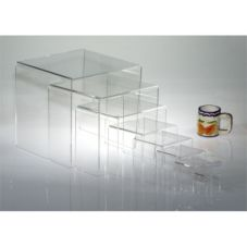"Clear Solutions 8210 Acrylic 4"" 3-Sided Riser"