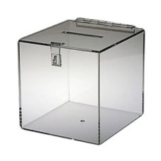 "Clear Solutions 8760 8"" Clear Acrylic Ballot Box with Hasp"