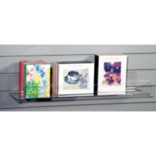 "Clear Solutions 8043SW Acrylic 36"" Shelf with Lip for Slatwall"