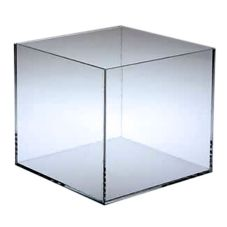 "Clear 10"" 5-Sided Cube"