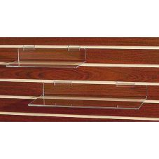 "Clear Solutions 8006SW Acrylic 12"" Flat Shelf for Slatwall"