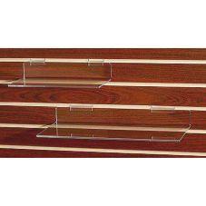 "Clear Solutions 8006SW Acrylic 12"" Flat Shelf for Slatwall"