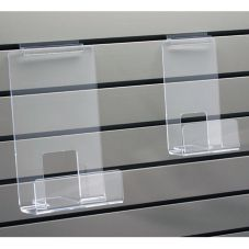 "Clear Acrylic 6"" Slatwall Book Strip w/ Lip"