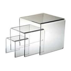 "Clear Solutions 8222 Acrylic 6"" 3-Sided Heavy Riser"
