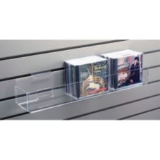 "Clear Solutions 8026 12"" Acrylic Slatwall Merchandise Shelf"