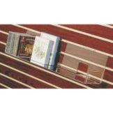 Clear Solutions 8070 Acrylic Slatwall Shelf for CD / DVD / Boxed Notes