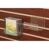 Clear Solutions 8085 Acrylic Slatwall CD / DVD Shelf with Sign Holder