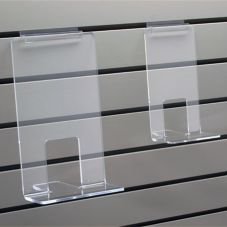 "Clear Solutions 8115 Acrylic 6"" Face Out Book Shelf for Slatwall"