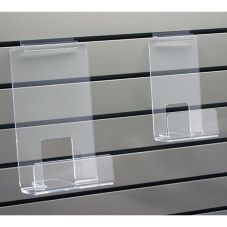 "Clear Solutions 8118 Acrylic 12"" Slatwall Book Shelf with Lip"